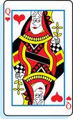 Cartoon Queen of Hearts — Stock Vector