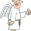Cartoon Angel Man - Stock Vector