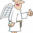 Cartoon Angel Man — Stock Vector