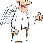 Cartoon Angel Man — Stock Vector