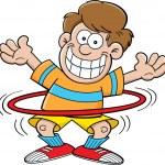 Cartoon boy with a hula hoop — Stock Vector #19751381