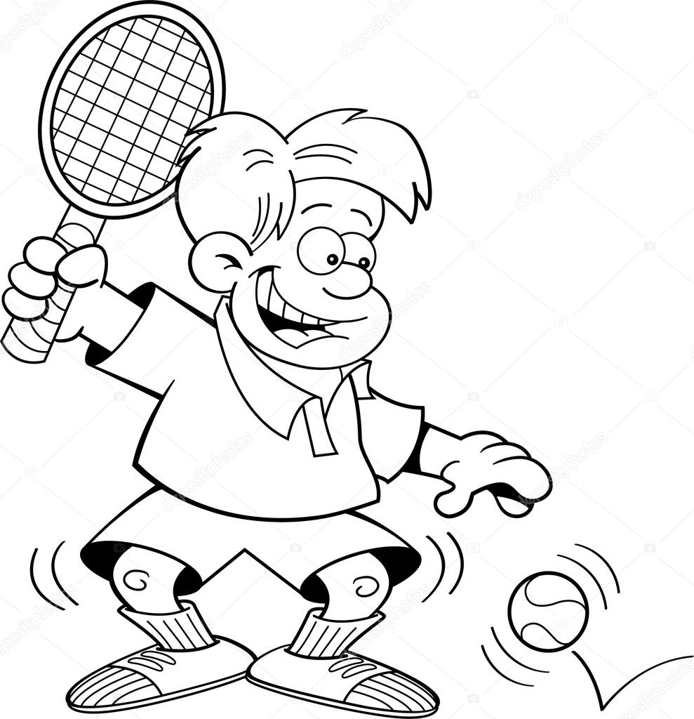 Cartoon Tennis ...
