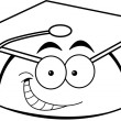 Cartoon smiling graduation cap - Vettoriali Stock