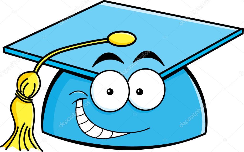 Cartoon Graduation Cap Cartoon smiling graduation cap