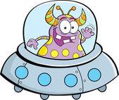 Cartoon spacecraft — Stock Vector