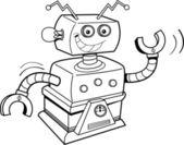 Kreslený robot — Stock vektor