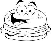 Cartoon hamburger — Stock Vector