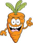Cartoon carrot with an idea — Stock Vector