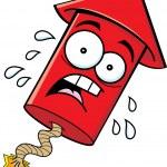 Cartoon Worried Firecracker — Stock Vector #24734153
