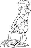 Cartoon müder mann — Stockvektor