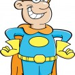 Cartoon boy in a superhero costume - Stock Vector