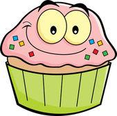 Cartoon cupcake — Stock Vector