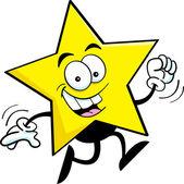 Funcionamiento estrellas de dibujos animados — Vector de stock