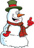 Cartoon snowman with an idea — Stockvektor