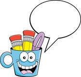 Cartoon cup med en bildtext ballong — Stockvektor