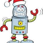 Cartoon robot wearing a Santa hat — Stock Vector #31904315