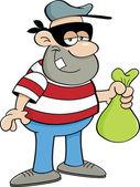Cartoon criminal — Stock Vector