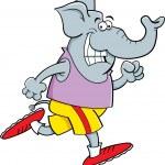 Cartoon elephant running — Stock Vector #33347767