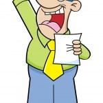Cartoon man making a speech — Stock Vector #36833321