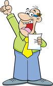 Cartoon man making a speech — Stock Vector