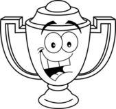 Cartoon lächelnd Trophy cup — Stockvektor