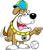 Cartoon illustration of dog — Stockvector