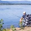 Fishermon river Volga — Stock Photo #13196160