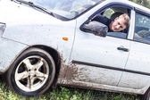 The car in the mud — Stock Photo