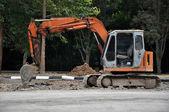 旧挖掘机 — 图库照片