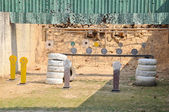 Target practice shooting — Stock Photo