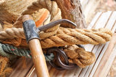 Hook and rope — Stock Photo