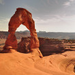 Delicate Arch Sunset 2 — Stock Photo