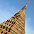 Roof of temple Wat Pho — Stock Photo #23329818
