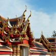 Roof of temple Wat Pho — Stock Photo