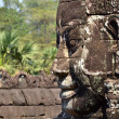 Face in bayon temple cambodia - Stock Photo