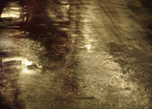 Wet street in light background — Stock Photo