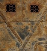 Old rusty door — Stock Photo