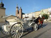 Horse carriage krakow Poland — Stock Photo