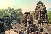 Ancient temple Bayon in Angkor Wat — Stock Photo