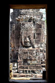 Face in bayon temple cambodia — Stock Photo