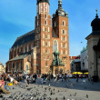 Mariacki church cracow — Stockfoto