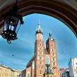 Mariacki church cracow — Stock Photo