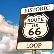 Historic route 66 sign — Stock Photo #28954277
