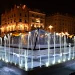 Glass pyramin fountain in Krakow — Stock Photo #29699159