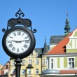 Stock Photo: Old clock on street