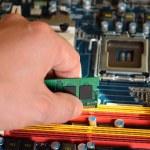 Installing RAM computer memory — Stock Photo #36520227