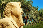 Alabaster sphinx of Memphis, Egypt — Stock Photo