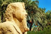 Alabaster sphinx of Memphis, Egypt — Stock Photo