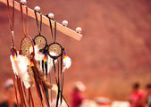 Native Navajo Dreamcatcher — Stock Photo