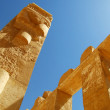 Ancient Egyptian column and script — Stock Photo